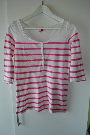 H&M Longsleeve pink gestreift Gr. 36