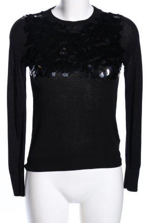 H&M Longsleeve schwarz Casual-Look keine Textilangabe