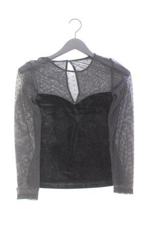 H&M Longsleeve-Shirt Größe 36 Langarm schwarz aus Polyester