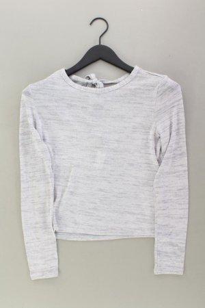H&M Longsleeve-Shirt Größe M Langarm grau aus Viskose