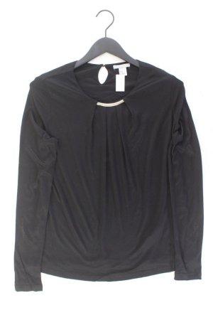 H&M Longsleeve-Shirt Größe M Langarm schwarz aus Viskose