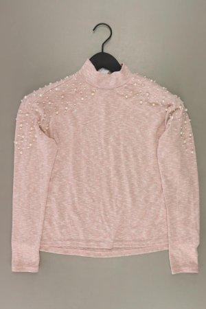 H&M Longsleeve-Shirt Größe S Langarm rosa aus Polyester