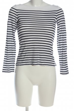 H&M Longsleeve weiß-schwarz Streifenmuster Casual-Look
