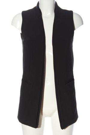H&M Lang gebreid vest zwart casual uitstraling