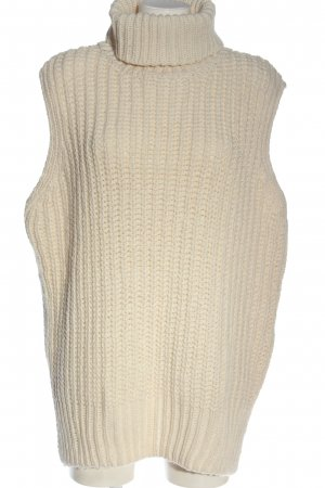 H&M Long Knitted Vest cream casual look