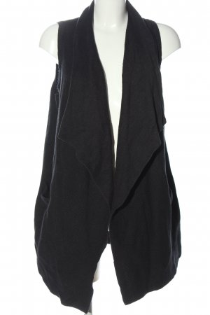 H&M Longstrickweste schwarz Casual-Look