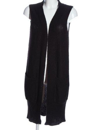 H&M Długa dzianinowa kamizelka czarny W stylu casual