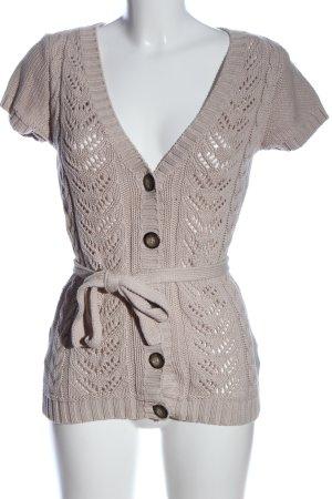 H&M Gilet long tricoté blanc cassé style décontracté
