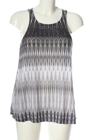 H&M Top largo estampado con diseño abstracto elegante