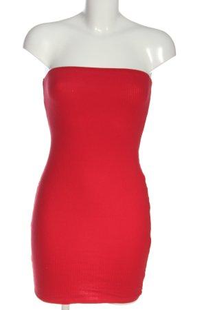 H&M Abito a fascia rosso stile semplice