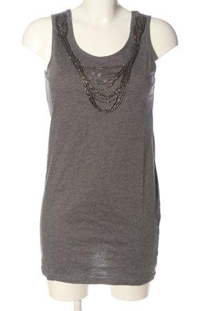 H&M Top lungo grigio chiaro puntinato stile casual