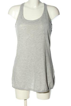 H&M Długi top jasnoszary Melanżowy W stylu casual