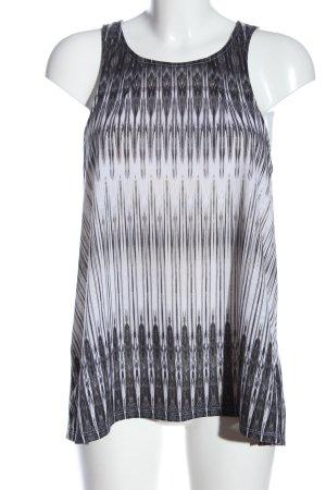 H&M Longtop hellgrau-weiß Farbverlauf Casual-Look