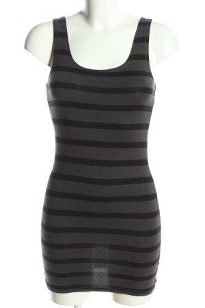 H&M Top lungo grigio chiaro-nero motivo a righe stile casual