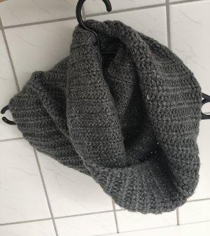 H&M Loopschal Strick grau