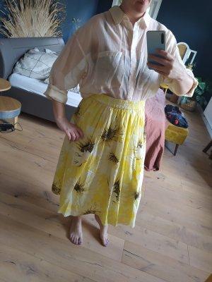 H&M Lyocell Bluse transparent Hemd Hemdbluse nude beige sand