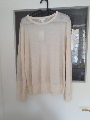 H&M Premium Pull tricoté blanc cassé