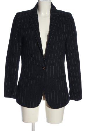 H&M Mama Gebreide blazer zwart gestreept patroon zakelijke stijl