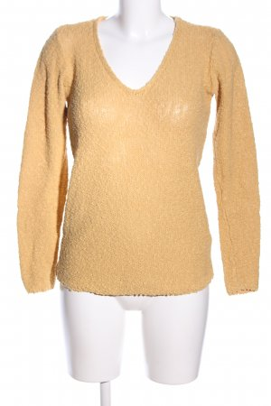 H&M Mama V-Ausschnitt-Pullover nude Casual-Look