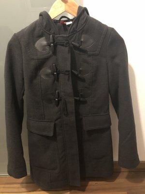 H&M Hooded Coat dark grey