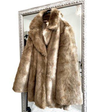 H&M Fake Fur Jacket multicolored mixture fibre