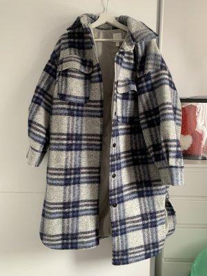H&M Długa kurtka niebieski