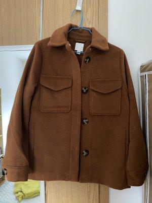 H&M Płaszcz oversize brązowy