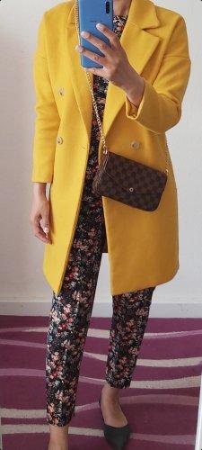 H&M Płaszcz zimowy żółty