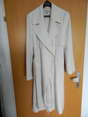 H&M Manteau long blanc cassé polyester