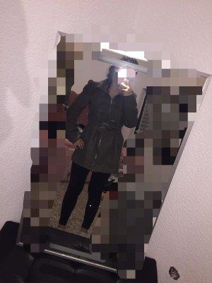 H&M Gabardina tipo vestido gris