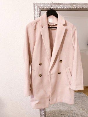 H&M Wełniany płaszcz Wielokolorowy Tkanina z mieszanych włókien