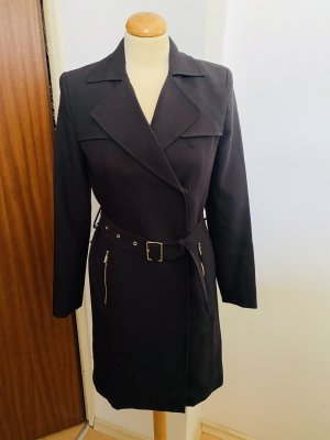 H&M Trench Coat black-gold-colored