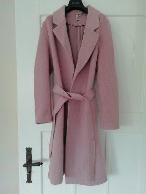 H&M Mantel Wollmantel leicht Rose Pastell