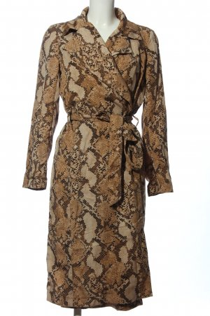 H&M Coat Dress brown-natural white allover print casual look