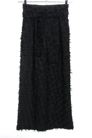 H&M Pantalone Marlene nero stampa integrale elegante