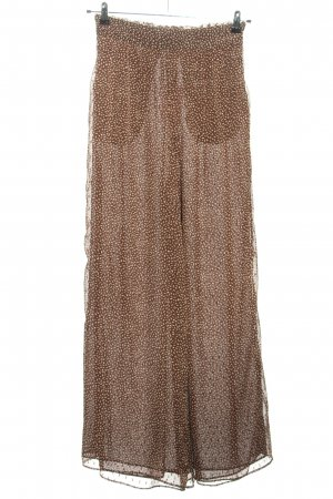 H&M Pantalón anchos marrón-blanco estampado repetido sobre toda la superficie