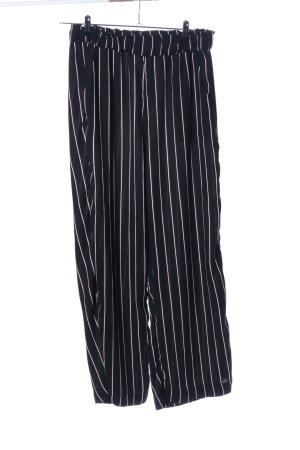 H&M Pantalon Marlene noir-blanc motif rayé style décontracté