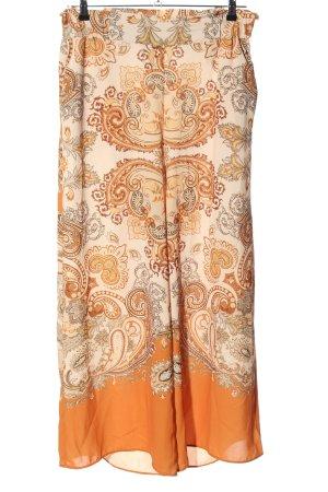 H&M Pantalon Marlene blanc-orange clair motif abstrait style décontracté