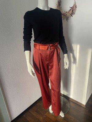 H&M Pantalon Marlene rouille-rouge brique