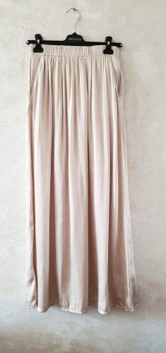 H&M Falda larga beige claro