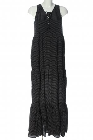 H&M Maxi Dress black-natural white striped pattern casual look