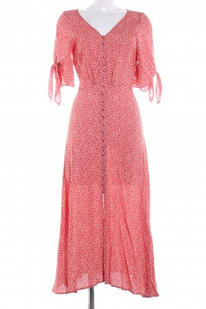 H&M Maxi Dress red-natural white flower pattern casual look