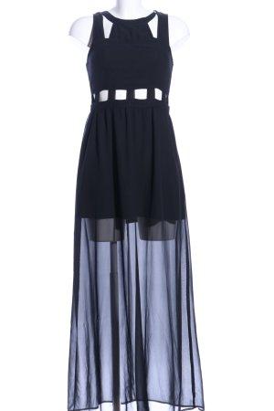 H&M Maxikleid schwarz extravaganter Stil