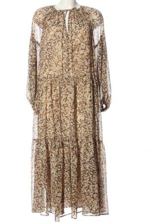 H&M Maxikleid braun abstraktes Muster Elegant