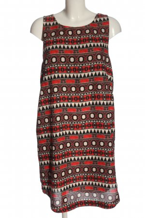 H&M Blusenkleid rot-creme Allover-Druck Casual-Look