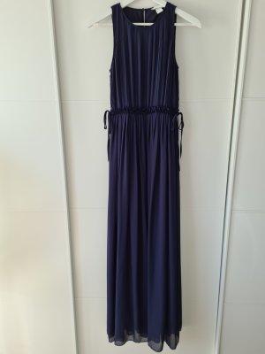 H&M Maxikleid, blau, Gr.36, festlich, Plissee-Kleid