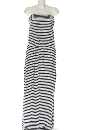 H&M Maxikleid weiß-schwarz Streifenmuster Casual-Look