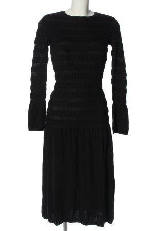 H&M Maxikleid schwarz Streifenmuster Casual-Look