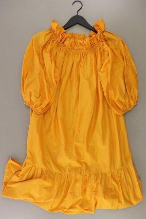 H&M Maxikleid Größe S neuwertig 3/4 Ärmel mit Carmen-Ausschnitt orange aus Baumwolle