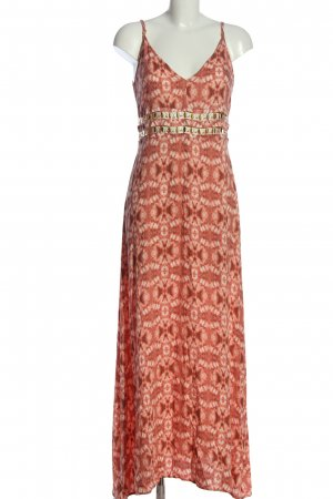 H&M Maxikleid rot abstraktes Muster Casual-Look